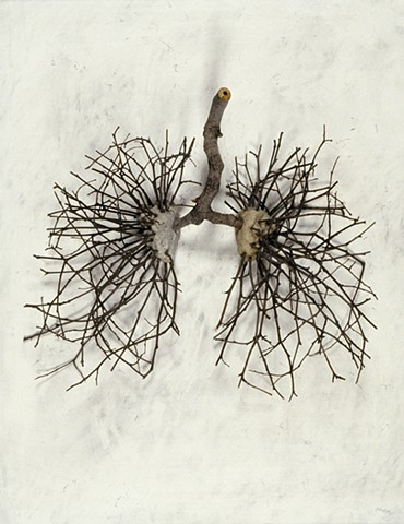 "Ian Crawley Art Sculpture Gods Prototype The nature of man ""Lungs"" by Ian Crawley"