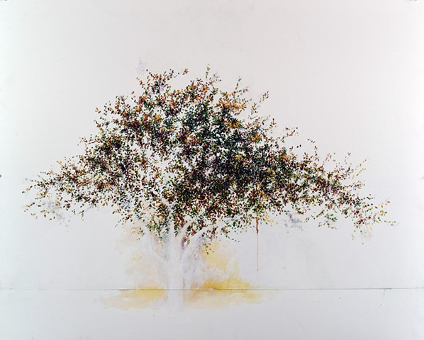 Art Tree Watercolor Painting by Ian Crawley