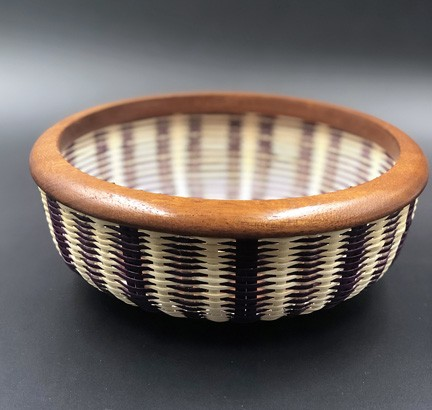 Striped Woven Bowl