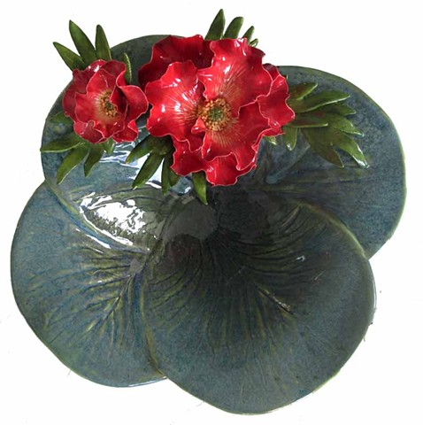 Bowl with Red Poppies