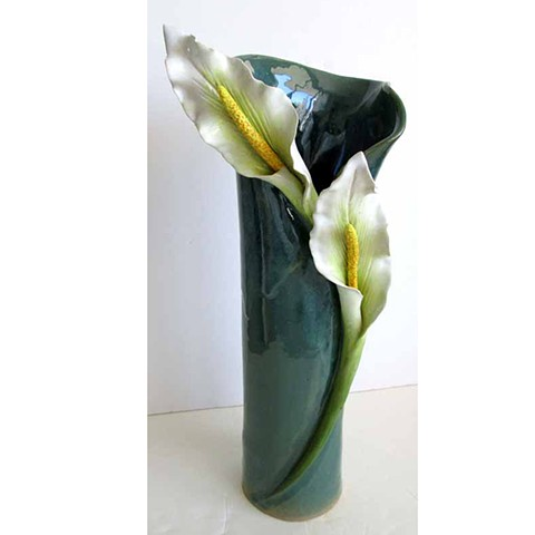 Vase with Calla Lillies