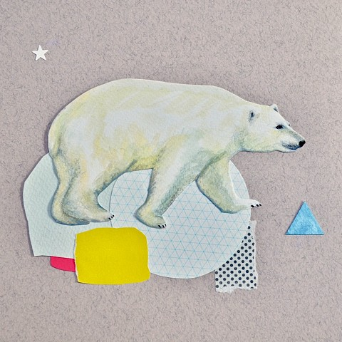 A collage of a Polar bear