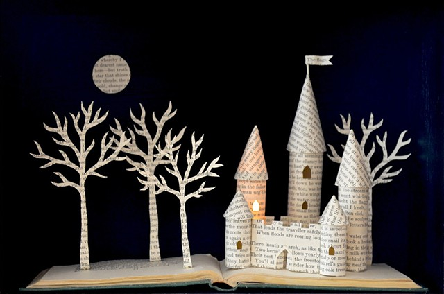 Castle lightbox by Ele Grafton