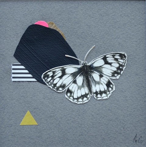 Mixed media picture of a butterfly