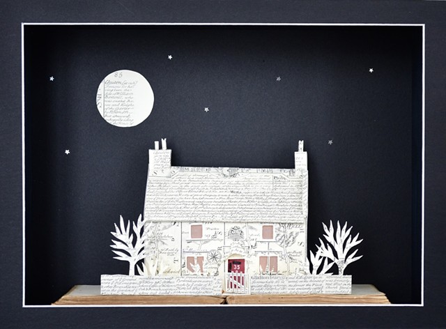 'Thatched Cottage' light box