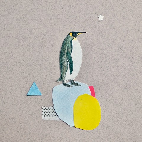 Penguin collage by Ele Grafton
