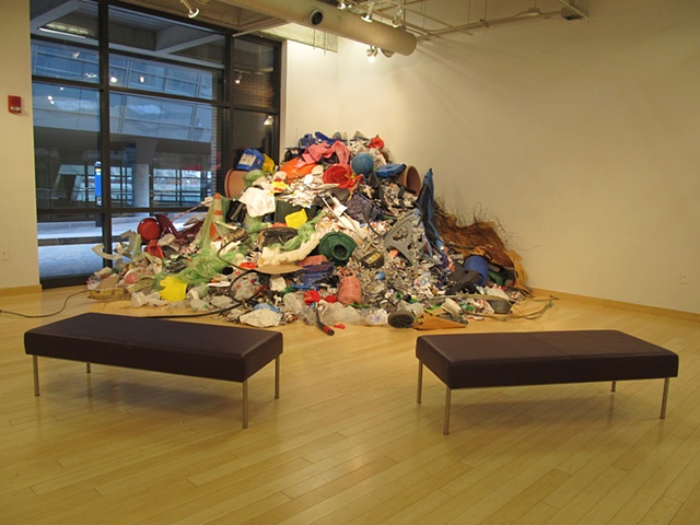 EcoArt Trash Upcycled Installation recycling Torres Gonzales Detritus Sculpture Ecology