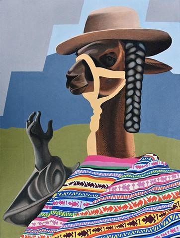 Mujer Llama desde Cusco
