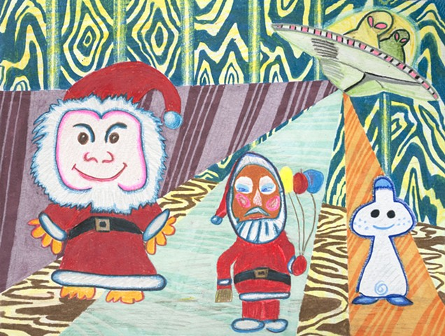 psychedelic santa claus with eloise chandler