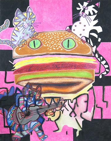 pussy burger for chris martin with jennifer coates