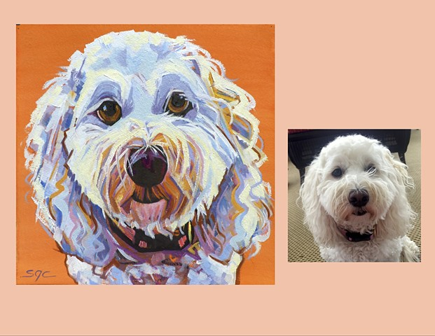 custom pet portrait, dog portrait, portrait of