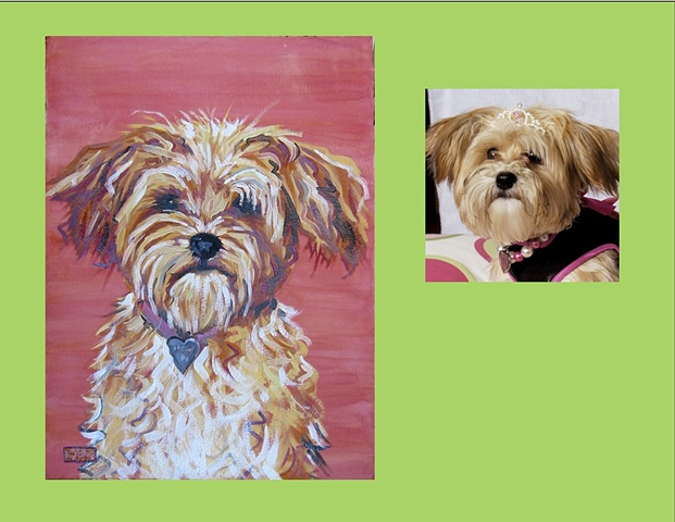 Madelyn is a terrier  This is her Color Dog portrait