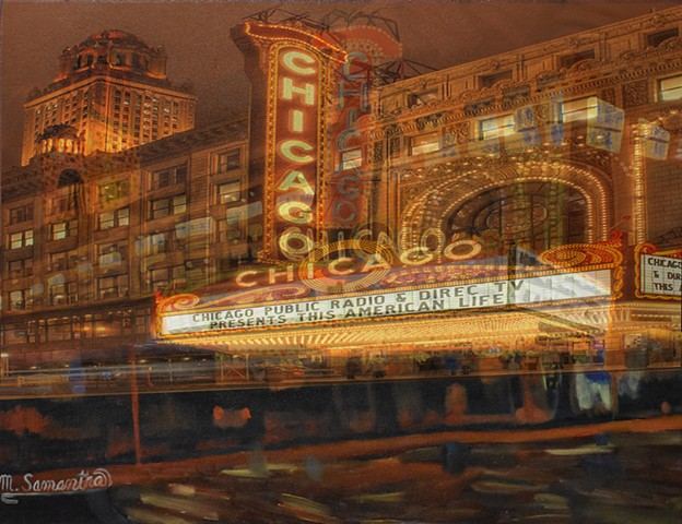 Chicago Theater (Hybrid Print)