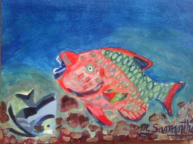 Parrot Fish #6 (SOLD!)