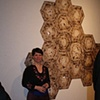 Artist Amy Kupferberg with her installation.