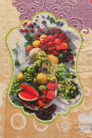 Detail. Mesa de Frutas no.2, (Table of Fruits no.2), Chicago Artists Coalition, Chicago IL.