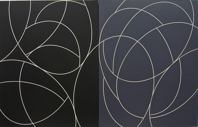 Lines of Flight Diptych #14