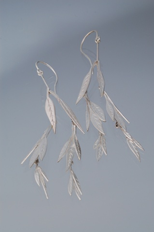 Handcrafted earrings evoking the gentle sway of willow fronds