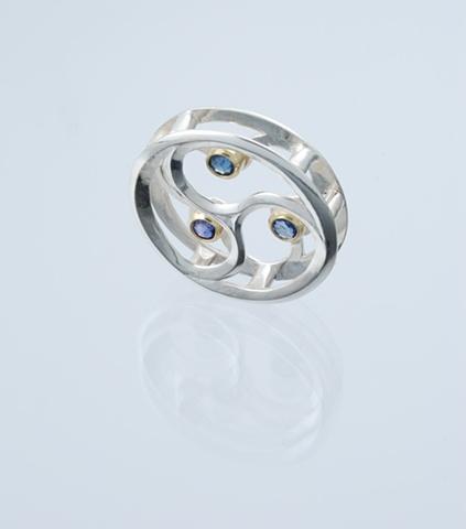 Sapphire Trinity Pendant