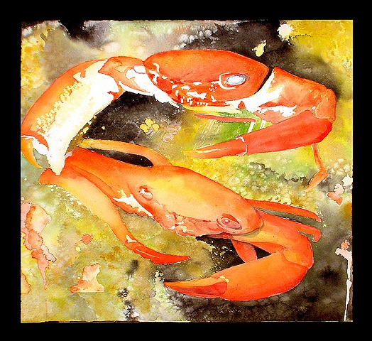 crabs painting by Corbett Sparks