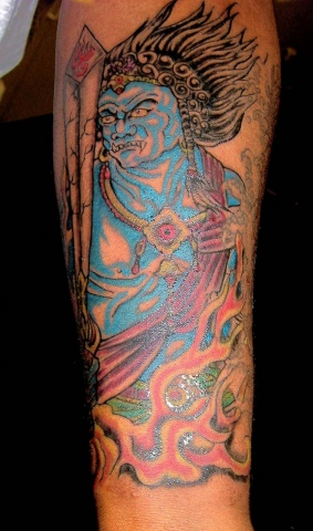 demon japanese tattoo by tatupaul