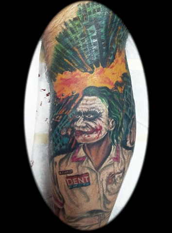 joker tattoo by tatupaul.com
