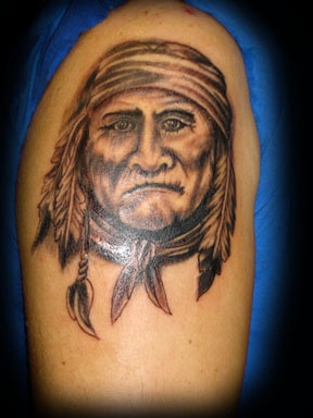 native american tattoo by tatupaul
