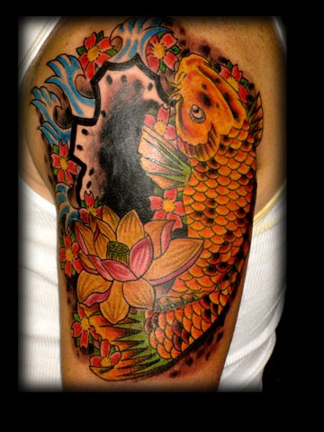 koi fish tattoo by tatupaul