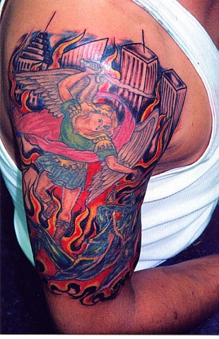 st. micheal tattoo by tatupaul