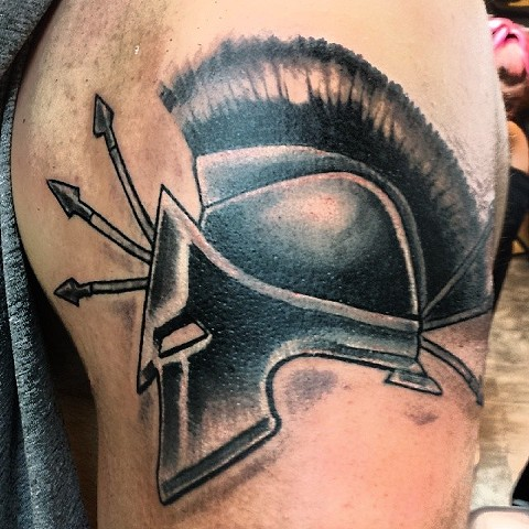 roman warrior tattoo by tatupaul.com