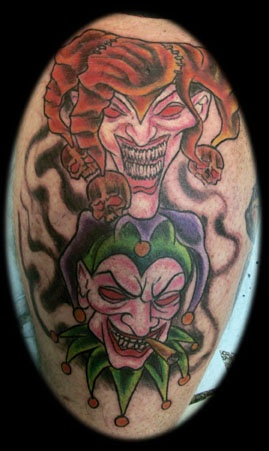 jester tattoo by tatupaul.com
