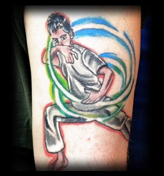 karate kid tattoo by tatupaul.com