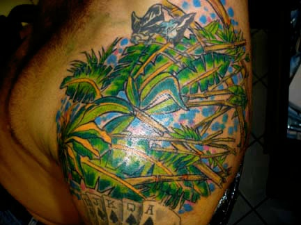 graffitti  palm tree tattoo by tatupaul