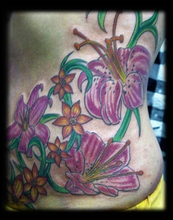 tulips tattoo by tatupaul.com