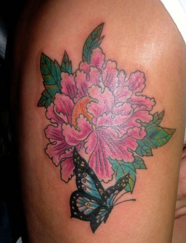 japanese flower tattoo by tatupaul