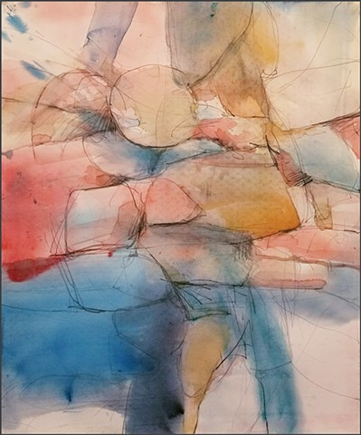 watercolor, abstract, contemporary_art, colorful, nature, fluid, energy, geometric, angular, organic, soft