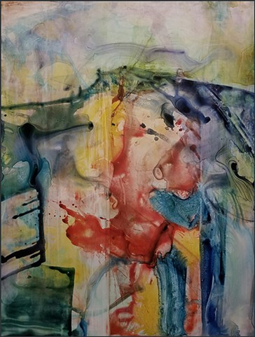 watercolor, yupo, abstract, colorful, landscape, modern, contemporary_art, contemporary_painting