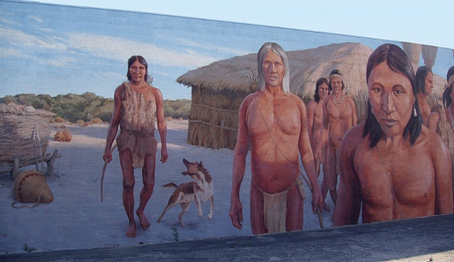 Mural, exterior mural, historical illustration, California