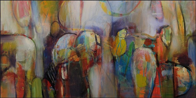 abstract, colorful, abstract_art, organic, figures, ovals, contemporary_art_, contemporary_painting