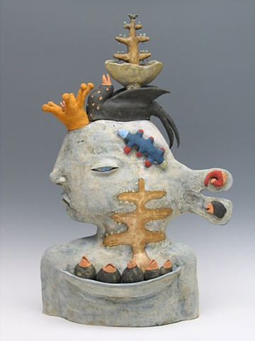 clay ceramic sculpture animal by sara swink