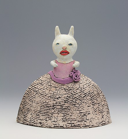 ceramic figure animal bunny rabbit by Sara Swink