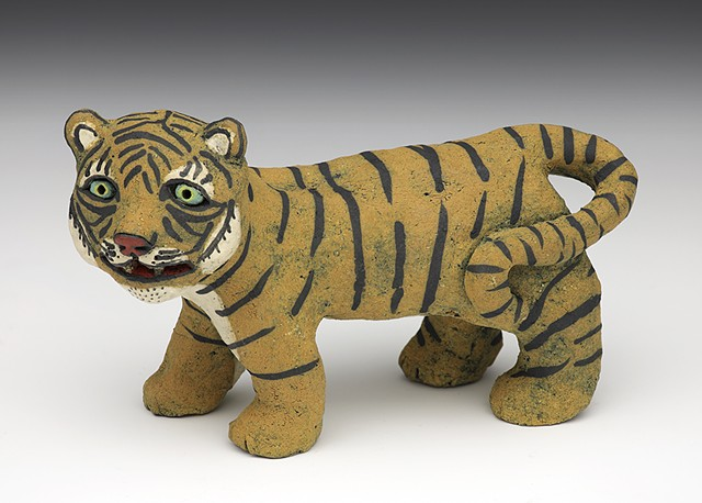 ceramic Sara Swink tiger stripes clay