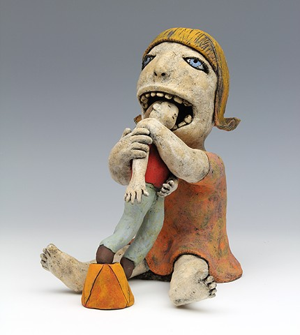 ceramic figure by Sara Swink