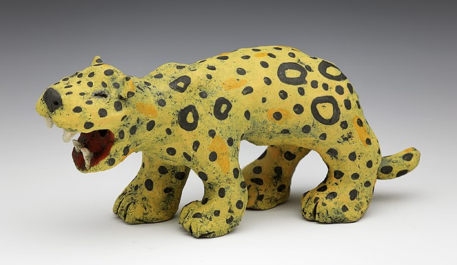 ceramic leopard spots teeth by Sara Swink
