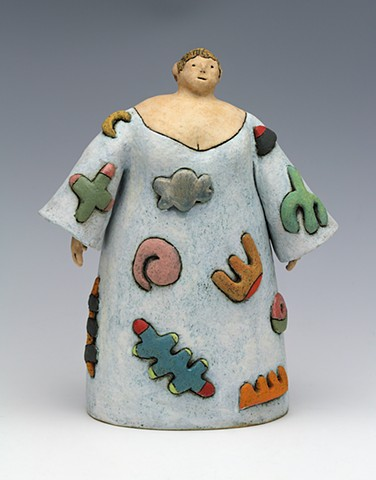 ceramic figure doodle by Sara Swink