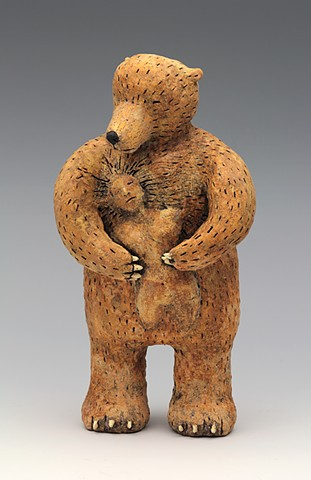 ceramic figure bear pottery by Sara Swink