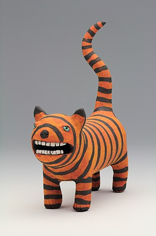 ceramic figure cat princess by Sara Swink