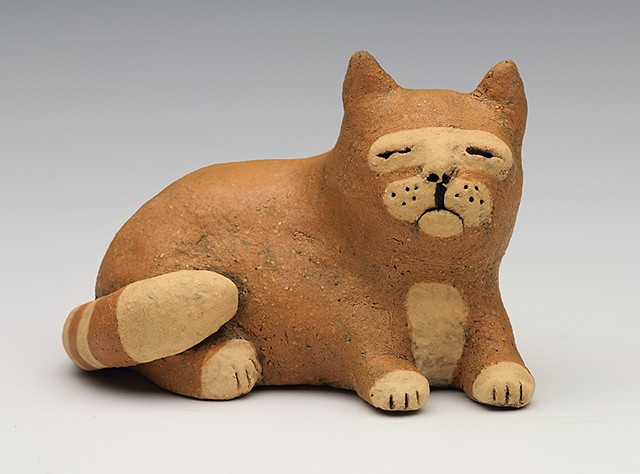 ceramic figure cat by Sara Swink
