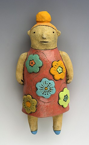 ceramic figure flower Wally by Sara Swink