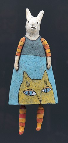ceramic figure with animals by Sara Swink